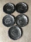 Worcester Pewter Bicentennial plates Birth of a Nation series Set Of 5 Rare