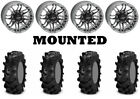 Kit 4 ITP Cryptid Tires 27x10-14 on Quadboss Stryker Gray Wheels IRS