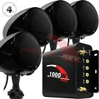 1000W Amplifier Bluetooth Motorcycle Stereo 4 Speakers Audio System Radio Harley