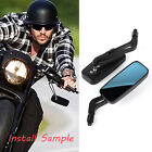 Rectangle Motorcycle Mirrors For Street Glide Harley-Davidson Road Glide V-Rod