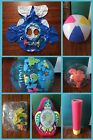 Lot of 7 New  Used Inflatable Kids Pool Toys Baby Float Beach Balls  More