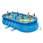 SUMMER WAVES 20x12x48 QUICK SET OVAL FRAME SWIMMING POOL