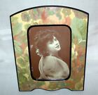 Vintage Decoupage Flower Picture Frame Table Top 5 x 7