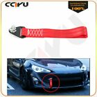 High Strength Racing Tow Strap for Front Rear Bumper Towing Hook Red