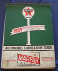 ORIGINAL VINTAGE 1959 TEXACO SERVICE STATION AUTOMOBILE LUBRICATION GUIDE BOOK