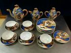 20pc Vtg Satsuma Moriage Dragonware Lithophane Geisha Japanese Porcelain Tea Set