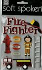 MAMBI Soft Spoken POLICE FIREFIGHTER themed dimensional stickers Awesome QK SH