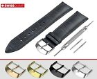 Strap Fits FORTIS Watch NAVY BLUE Band Genuine Leather For Buckle Clasp Mens