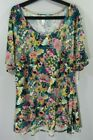 NWT 3XL LuLaRoe Perfect T Pink Green Yellow Tan Cream Floral