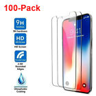 100x Wholesale Lot Tempered Glass Screen Protector for iPhone 11 Pro Xr 8 7 Plus