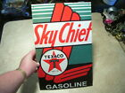 Vintage  Style Metal Tin Texaco Sky Chief Gasoline Sign