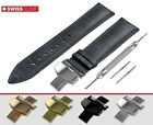 Band for FORTIS Watch NAVY BLUE Genuine Leather Strap for Clasp Buckle 12-24mm