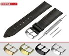 Band For FORTIS Watch DARK BROWN Genuine Leather Strap For Clasp Buckle Mens