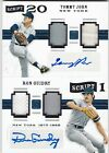 LOT Tommy John Ron Guidry Yankees 2016 Pantheon Dual Game Jersey Relic AUTO #