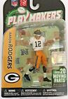Aaron Rodgers Playmakers 1:18 Action Figures: NFL Aaron Rodgers NEW Unopened
