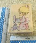 GIRL PRAYING MW RUBBER STAMP STAMPENDOUS PRECIOUS MOMENTS