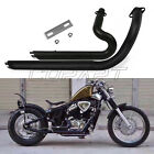 Metal Black New Exhaust Pipe For Honda STEED SHADOW VT VLX400 VLX600