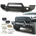 Full Width Front Bumper with LED Light bar for 2007 2018 Jeep Wrangler JK New