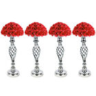 4pc Metal Wedding Flower Table Decor Vase Centerpiece Stand Candle Holder 21inch