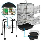 59 Rolling Bird Cage Powder Coated Budgie Conure Lovebird Pet W Stand