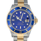 Rolex 16613 E Sub Blue Factory Serviced Submariner Steel Yellow Gold Swiss Diver