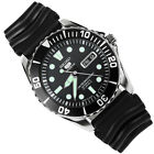 Seiko 5 SNZF17J2 Automatic Black Dial Black Rubber Band Mens Watch Made in Japan