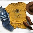 Womens Cute Bee T shirts Christians Be Kind Gift Shirts Summer Plus Size Tops