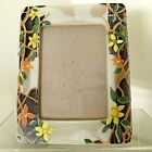 DISTRESSED FLOWER PAINTED PHOTO FRAME Lovely