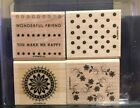 Stampin Up  Boho Background  Rubber Stamps  Retired