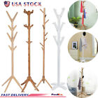 Wood Standing Hat Coat Rack Jacket Bag Hanger Tree Entryway Jacket Umbrella hold