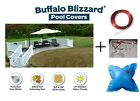 Buffalo Blizzard SUPREME PLUS Tan Swimming Pool Winter Cover w Air Pillow