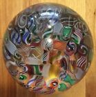 Beautiful Vintage Antique Murano Italian Art Glass Tutti Frutti Paperweight