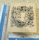 LEAVES AND ACORNS WREATH MW RUBBER STAMP NORTHWOODS RUBBER STAMPS