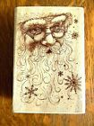 Rubber Stampede SANTA COLLAGE Rubber Stamp GORGEOUS Santa Face CHRISTMAS