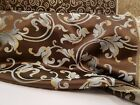 Jacquard Upholstery and Drapery Fabric Color Chocolate By the Yard 58 wide
