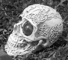 Latex skull mold with plastic backup plaster or concrete mould 55 x 35 x 4