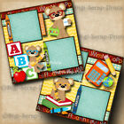 SCHOOL PRESCHOOL 2 premade scrapbook pages layout boy girl DIGISCRAP A0242