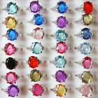10 20 50 100x Wholesale Mixed Lot Rings Crystal Rhinestone Silver Plated Jewelry