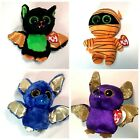 Ty Beanie Boos Halloween Lot of 4 - Count Ozzy Beastie and Mask - New With Tags