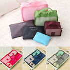 6pcs set Waterproof Clothes Cube Storage Bags Travel Holiday Luggage Organizer