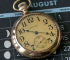 Vintage Waltham Vanguard 18s 21j Model 1892 Open Face sgl sunk Pocket Watch 1902