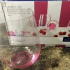 Villeroy  Boch Colourful Life Berry Pink Set 4 Stemless Wine Glass Tumblers New