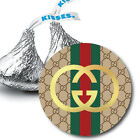 108 GUCCI Logo Hershey Kiss Label Stickers Birthday Baby Shower Party Favors