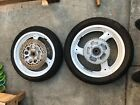 Suzuki GSX-R 750 OEM Wheels w/ Hardware 1988 model original factory white paint