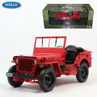 WELLY 118 Jeep Willys Diecast Model Car Collection Army Military Truck Vehicles