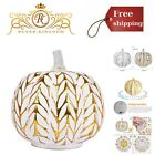 Battery Operated Fall Decor Glass Pumpkins Halloween Candles LED Fall Decoration