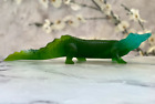 Daum French Chrystal Pate de Verre Crocodile Sculpture Mint Signed Gorgeous 12
