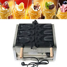 110V Nonstick Electric 3Pcs Fish Waffle Ice Cream Taiyaki Maker 2000W Commercial