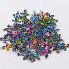 10Pcs Colorful Alloy Gecko Beads Connector Charms Pendant DIY Jewelry Making hi