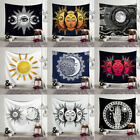 Sun and Moon Face Tapestry Wall Hanging Mandala Blanket Throw Home Decor US